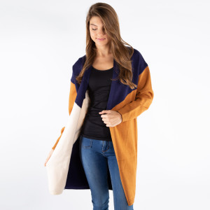 Color block cardigan.  - One size fits most 0-14 - 100% Acrylic