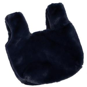 Faux fur hand bag. Satin lining, no pockets.