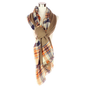 Plaid scarf. 100% acrylic.