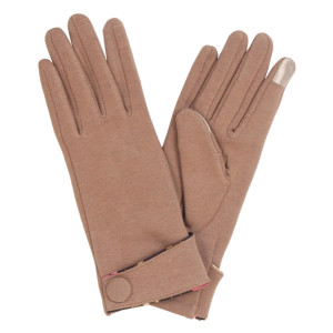Smart Touch Gloves Featuring Floral Print Trim Cuff.  - Touch Screen Compatible  - One size fits most - 100% Acrylic