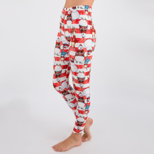 "New Mix printed Christmas print peach skin leggings are seamless, chic, and a must-have for every wardrobe. These lightweight, full-length leggings have a 1"" waistband. They are versatile, perfect for layering, and available in many unique prints. 92% Polyester 8% Spandex. One size fits most, fits US women's 0-14."