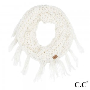 """C.C INF-100  Chenille Infinity Scarf Featuring Fringe Tassels.  - One size fits most - 100% Polyester  - W:12"""" X L:60"""""""