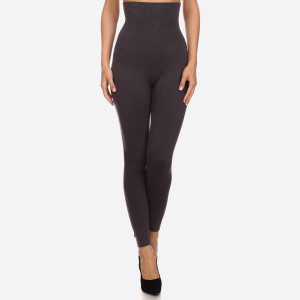 "Women's High Waisted Cotton Compression Leggings.  - Long, skinny leg design  - Does not ball or pill  - Comfortable and easy pull-on style  - Solid color  - Very Stretchy   - Tummy Control  - Hight Waist  - 8"" Waist Band  - One size fits most 0-14 - 50% Cotton, 45% Polyester, 5% spandex"