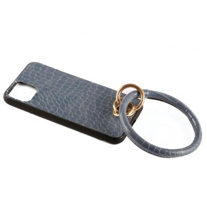 """Fitted Gator Faux Leather Key Ring Cell Phone Case For iPhone XS Max.  - Fits iPhone XS Max - Gator Faux Leather Print - Detachable 3"""" Key Ring - Hard Plastic Material   iPhone XS Max – 6.20 inches x 3.05 inches x 0.30 inch"""