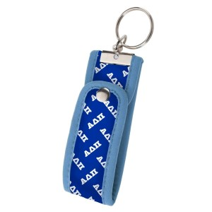 Neoprene Wristlet Key Fob-Alpha Delta Pi.  Keep your keys handy and your hands free with our popular Wristlet Key Fob! Fits most wrists and now has a convenient snap closure.