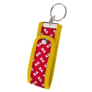 Neoprene Wristlet Key Fob-Chi Omega.  Keep your keys handy and your hands free with our popular Wristlet Key Fob! Fits most wrists and now has a convenient snap closure.
