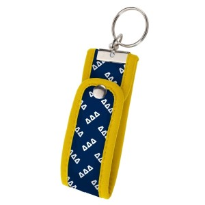 Neoprene Wristlet Key Fob-Delta Delta Delta.  Keep your keys handy and your hands free with our popular Wristlet Key Fob! Fits most wrists and now has a convenient snap closure.