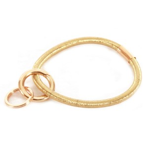 """PonyTail Like Key Ring.  - Hold Keys while wearing on wrist or bag - Approximately 3"""" in diameter"""