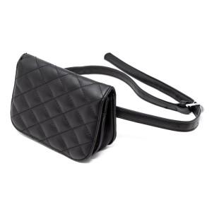 "Faux leather hip bag. 5"" x 7"""