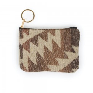 "Aztec Print Coin Keychain Pouch.  - Keyring to hold your Keys - Zipper Closure - Approximately 5.5"" W x 4"" H - 100% Polyester"