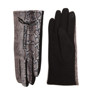 Snakeskin Smart Touch Gloves.  - One size fits most - 100% Polyester