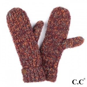 C.C MT-2035 Boucle yarn mitten with cuff  - 50% Polyester, 50% Nylon - One size fits most
