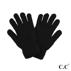 C.C G-7006 Boucle Smart Touch Gloves Featuring Lined Inside.  - One size fits most - 100% Polyester Boucle - Matches C.C HAT-7006 and SF-7006