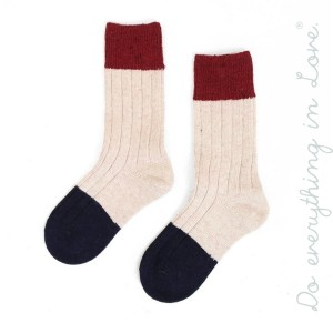 Do everything in Love Brand Ribbed Knit Color Block Socks.  - One size fits most women's 6-9 - 35% Wool, 65% Acrylic