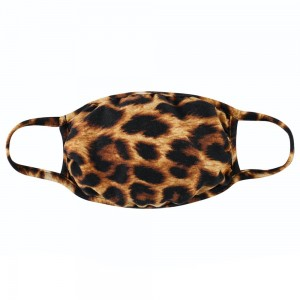 """Reusable Leopard Print T-Shirt Cloth Face Mask.  - Machine Wash in Cold  - Mild Detergent  - Lay Flat to Dry - Do Not Bleach - Reusable Face Mask - These Mask Have NO Filter - One Size Fits Most Adults - Exterior Material: 95% Polyester / 5% Spandex - Interior Material: Cotton Blend in Ivory or White  These Masks Are Not For Professional Use and Not Medically Rated. These Masks Have No Proven Effectiveness Against Any Viruses.   * """"This item is being Pre-Sold and is not currently in stock. We will ship out once we receive on a first come first serve basis. Due to the High Demand, we suggest getting your order placed ASAP as these are selling quickly and we cannot guarantee quantity."""""""
