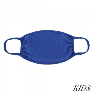 KIDS Reusable Solid Color T-Shirt Cloth Face Mask.  - Machine Wash in Cold  - Mild Detergent  - Lay Flat to Dry -Washable & Reusable  - These Mask Have NO Filter - One Size Fits Most (KIDS AGES 5-11) - Exterior Material: 95% Polyester / 5% Spandex - Interior Material: Cotton Blend in Ivory or White  ** These Masks Are Not For Professional Use and Not Medically Rated. These Masks Have No Proven Effectiveness Against Any Viruses.  *** ALL Sales Final Due to CDC Recommendations