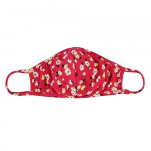 ADULTS Reusable Floral Print T-Shirt Cloth Face Mask with Seam.  - Machine Wash in Cold - Mild Detergent - Lay Flat to Dry - Do Not Bleach - Reusable Face Mask - These Mask have NO Filter - One Size Fits Most ADULTS - Exterior Material: 95% Polyester / 5% Spandex - Interior Material: Cotton Blend in Ivory or White  **These Masks Are Not For Professional Use and Not Medically Rated. These Masks Have No Proven Effectiveness Against Any Viruses. *** ALL Sales Final Due to CDC Recommendations