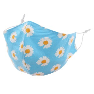 Non-Medical Daisy Print Washable & Reusable Fashion Face Mask with Adjustable Ear Loop.  - Wash Before Use - Reusable / Washable / Latex Free - Eco-Friendly - Protects from Dust / Fog / Spray / Pollen - One size fits most Adults - Cotton & Elastic  *** ALL Sales Final Due to CDC Recommendations