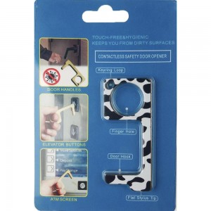 Keep Your Hands Safe with This Dalmation Fashion Design Contactless Safety Door Opener.  - Touch Free & Hygienic  - Keeps You From Touching Dirty Surfaces - Can Be Used For ATM Screens, Pin Pads, Door Handles Etc. - Features Keyring Loop, Finger Hole, Door Hook & Flat Tip  - Approximately 2.75""