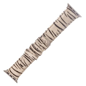 """Interchangeable Adjustable Genuine Leather Zebra Print Cow Hide Smart Watch Band For Smart Watches.  - Fits 38mm Watch Face - Approximately 3"""" in diameter - Adjustable Band - Fits up to a 7"""" wrist"""