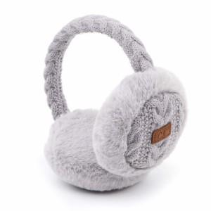 C.C EM-3661 Cable Knit Earmuffs Featuring Faux Fur Trim.  - One size fits most  - Adjustable Band
