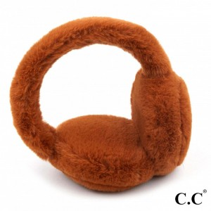 C.C EM-3665 Faux Fur Earmuffs.  - One size fits most  - Adjustable Band