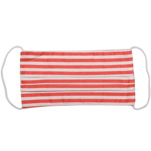 Non-Medical Striped Pleated Fashion Face Mask with Ear Loop.  - Wash Before Use - Reusable / Washable / Latex Free - Eco-Friendly - Protects from Dust / Fog / Spray / Pollen - One size fits most Adults - Cotton & Elastic  *** ALL Sales Final Due to CDC Recommendations