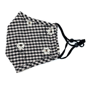 Do everything in Love Brand Adjustable Floral Checkered Print Fashion Mask with Filter Insert.  - Adjustable Ear Loops - Washable & Reusable - Non-Medical - Filter Insert - Filter Sold Separately*** - Blocks against Sunlight / Dust / Etc - Wash After Each Use - One size fits most Adults  *** ALL Sales Final Due to CDC Recommendations