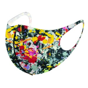 Non-Medical Multicolor Splatter Stretchable Fashion Design Face Mask.   - Non-Medical Fashion Face Mask - These Mask Have No Filter - Blocks Sunlight, Dust Particles, and/or Wind - Washable and Reusable - Wash After Each Use - Does Not Protect Against Toxic Gases - One size fits most Adults - 100% Polyester  *** ALL Sales Final Due to CDC Recommendations