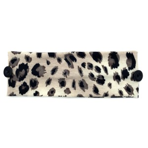 Do everything in Love Brand Animal Print Face Mask Fashion Button Headwrap.  - Side Buttons to Secure Face Mask  - One size fits most - 100% Polyester