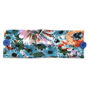 Do everything in Love Brand Floral Print Face Mask Fashion Button Headwrap.  - Side Buttons to Secure Face Mask - One size fits most - 100% Polyester