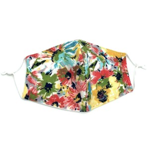 Do everything in Love Brand Adjustable Floral Print Face Mask with Filter Insert.  - Non-Medical - Adjustable Ear Loops - Washable & Reusable - Wash After Each Use - Double Layer Fabric - Filter Insert (Filter Not Included)**  - Blocks against Sunlight / Dust / Etc - One size fits most Adults  *** ALL Sales Final Due to CDC Recommendations