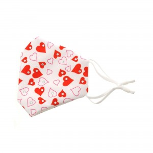Adjustable Valentine's Day Bling Face Mask with Filter Pocket.  - Non-Medical  - Valentine Heart Print - Filter Pocket - Filter NOT* Included - Adjustable Ear Loops - Adjustable Nose Clip - Cotton & Elastic Material   *** ALL Sales Final Due to CDC Recommendations
