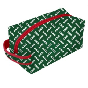 Neoprene Zipper Bag-Alpha Chi Omega. This zipper bag includes a convenient carrying handle and may be used for cosmetics, brushes or any personal items. Machine washable.