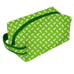 Neoprene Zipper Bag-Kappa Delta. This zipper bag includes a convenient carrying handle and may be used for cosmetics, brushes or any personal items. Machine washable.