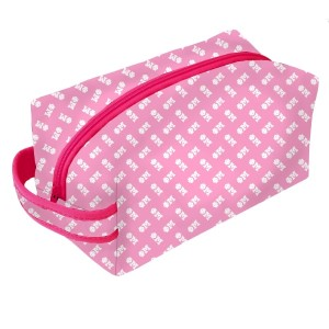 Neoprene Zipper Bag-Phi Mu. This zipper bag includes a convenient carrying handle and may be used for cosmetics, brushes or any personal items. Machine washable.