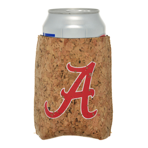 Officially licensed University of Alabama cork board cup hugger.