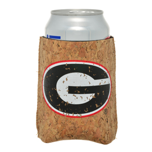 Officially licensed University of Georgia cork board Drink Hugger.