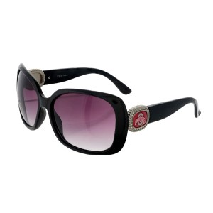 Officially licensed black sunglasses with the  Ohio State University logo on the sides. UV 400 protection.