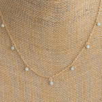 Wholesale dainty metal necklace beaded accents