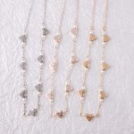 Wholesale heart necklace pearl details extender