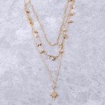 Wholesale north star star moon layered necklace Shortest layer extender