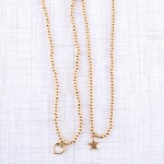 Wholesale worn Gold Ball Beaded Star Necklace Star cm L overall Adjustable Exten