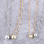 Wholesale gold Dipped Pearl Collar Necklace Pearl mm Long Adjustable Extender