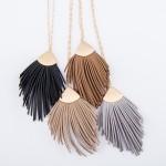 Wholesale long Necklace Faux Leather Tassel Pendant Pendant L L Adjustable Exten