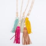 Wholesale long Necklace Faux Leather Tiered Tassel Pendant Pendant L L Adjustabl