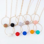 Wholesale long Necklace Circle Pendant Seed Beaded Ball Detail Beaded Ball mm Pe