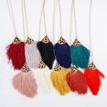 Wholesale long Necklace Genuine Leopard Print Tassel Pendant Pendant L Adjustabl