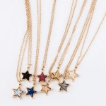 Wholesale druzy Star Pendant Necklace Gold Pendant cm Long Adjustable Extender