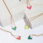 Wholesale druzy Heart Pendant Necklace Gold Pendant Adjustable Extender